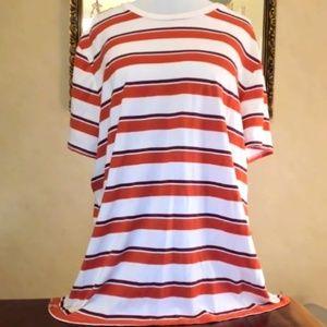American Eagle Striped Short Sleeve T shirt XXL